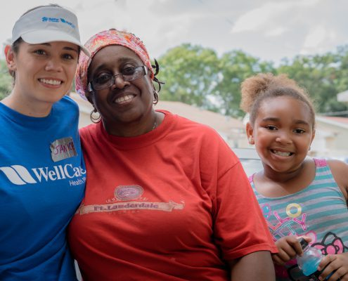 family and volunteers