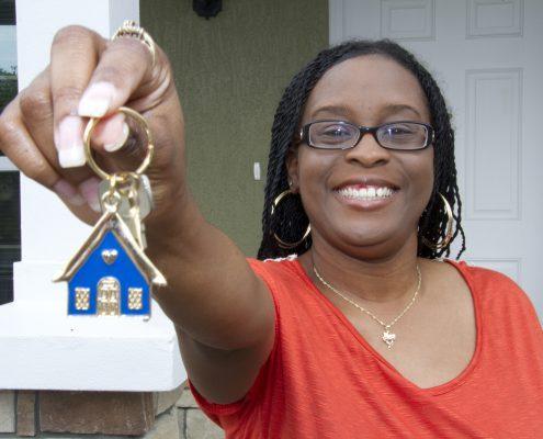 Vanita Nedd holds the keys to her new townhouse