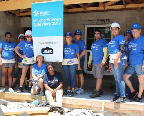 Lowe's Partners with Habitat Hillsborough on Women Build