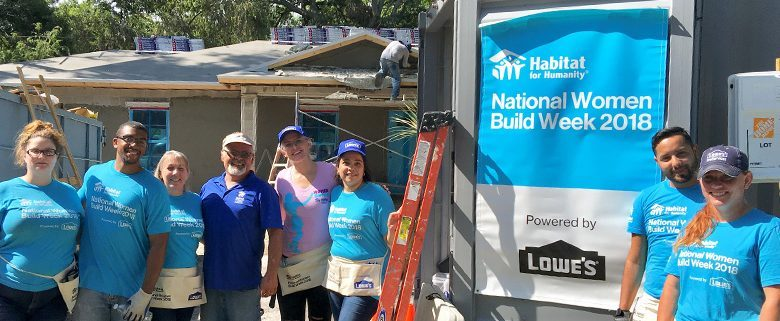 Lowe's participates on Tampa build site for Habitat National Women Build Week