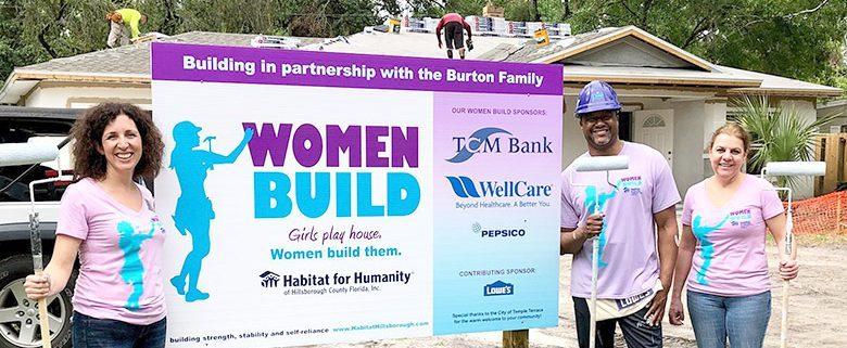 TCM Bank Executives Join Volunteers on Habitat Women Build Site