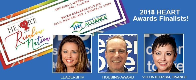 Habitat Hillsborough staff named Housing & Education Alliance 2018 HEART Awards finalists
