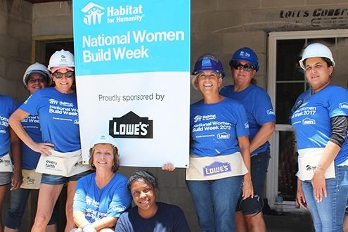 Habitat Hillsborough and Lowe's unite women volunteers to repair local woman's home during International Women's Day, March 8