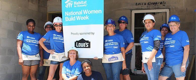 Habitat Hillsborough and Lowe's unite women volunteers to repair local woman's home during International Women's Day, March 8