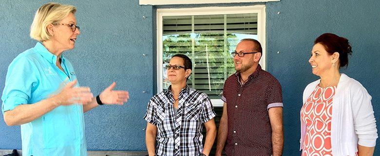 Tampa Mayor Castor visits Habitat Hillsborough homeowners to kick off National Homeownership Month.