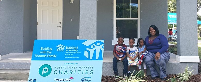 Publix contributes $55,000 to build Habitat Hillsborough home for Tampa family of four