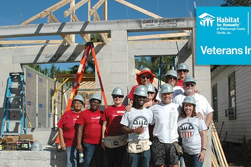 "Habitat Hillsborough and Bank of America Officially ""Raise the Roof"" on Second Veterans Build Home"