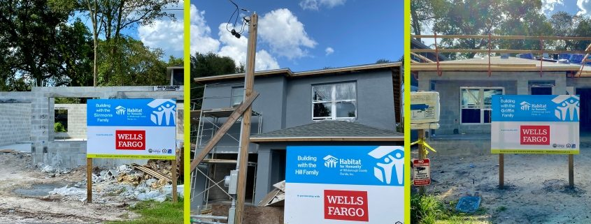 Habitat for Humanity to build three homes in Hillsborough County with assistance of Wells Fargo Foundation grant