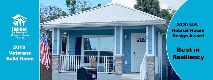 Habitat Hillsborough Receives Top Design Award for Veterans Build Home
