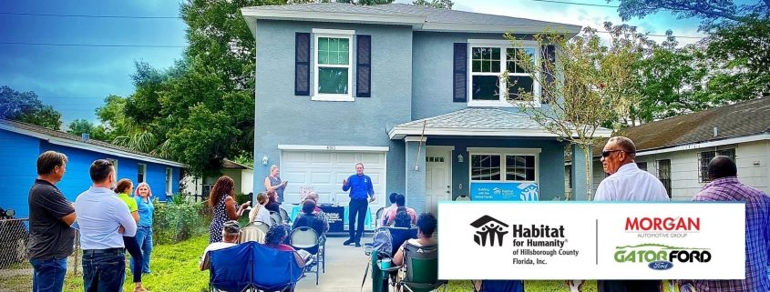 Morgan Auto Group and Gator Ford partner on a fourth Habitat home.