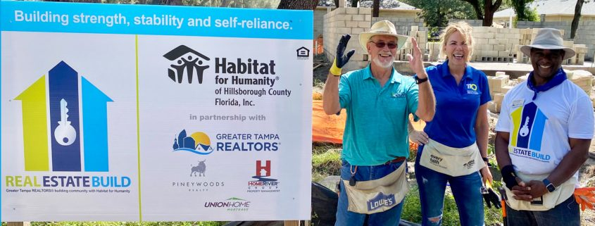 """Greater Tampa REALTORS partner with Habitat Hillsborough for """"Real Estate Build"""" to build for two families"""